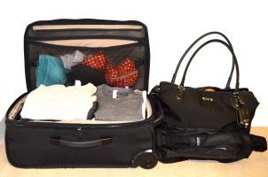 """19"""" Carry-On Roller, Weekender and Messenger Bag."""